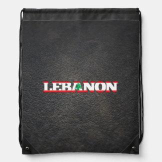 Lebanese name and flag drawstring backpack