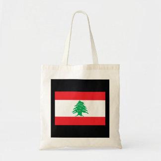 Lebanese National flag of Lebanon-01.png Budget Tote Bag