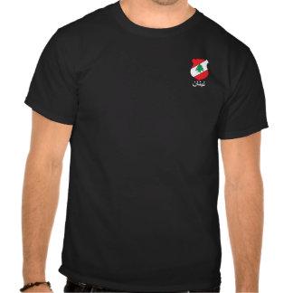 Lebanese small logo COA  Arabic Lettering Men's Shirts