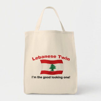 Lebanese Twin - Good Looking One Grocery Tote Bag