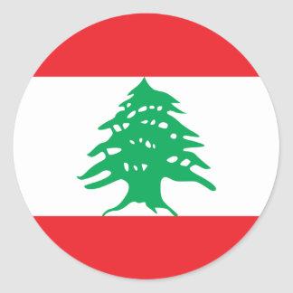 lebanon classic round sticker