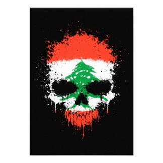 Lebanon Dripping Splatter Skull Personalized Invite