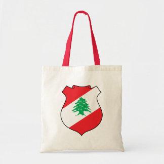 lebanon emblem budget tote bag