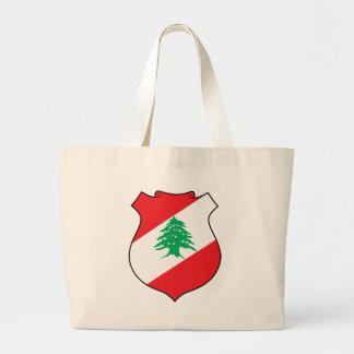 lebanon emblem jumbo tote bag