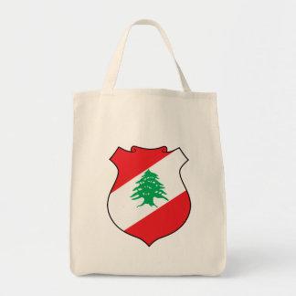 lebanon emblem grocery tote bag