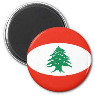 Lebanon Fisheye Flag Magnet