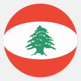Lebanon Fisheye Flag Sticker