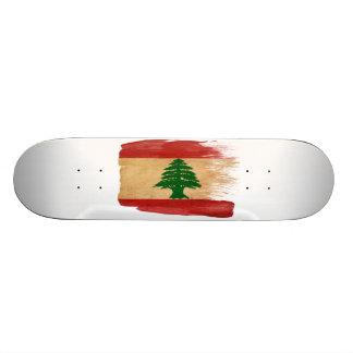 Lebanon Flag 21.3 Cm Mini Skateboard Deck