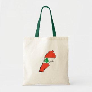 Lebanon Flag 3D Tote Bag