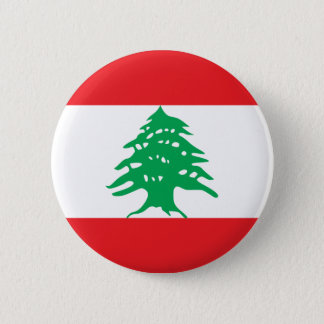 Lebanon Flag 6 Cm Round Badge