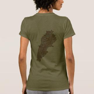 Lebanon Flag and Map dk T-Shirt