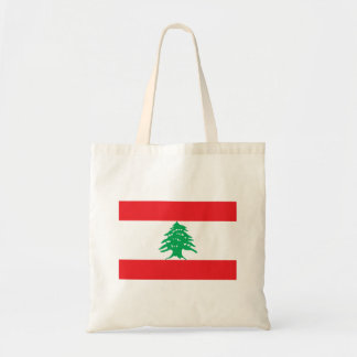 Lebanon Flag Budget Tote Bag