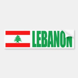 Lebanon Flag Bumper Sticker