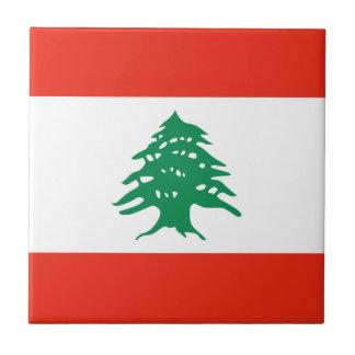 Lebanon Flag Ceramic Tile