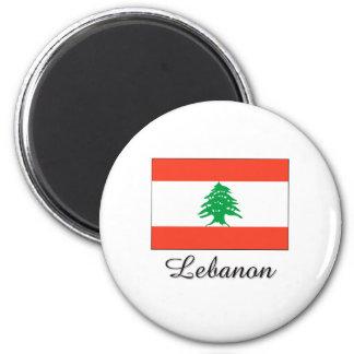 Lebanon Flag Design Magnet