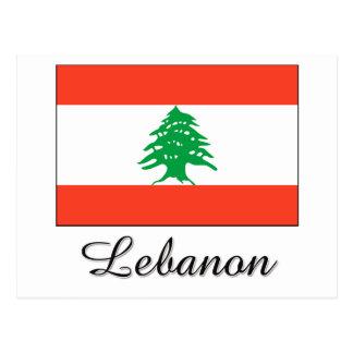 Lebanon Flag Design Postcard