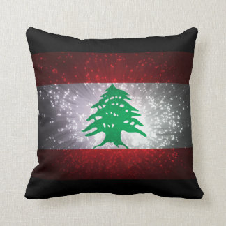 Lebanon Flag Firework Cushion