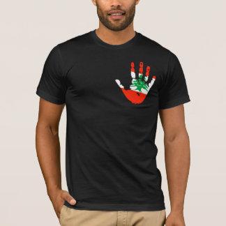 Lebanon Flag Handprint T-Shirt