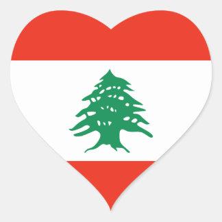 Lebanon Flag Heart Sticker