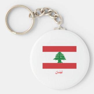Lebanon Flag Key Ring