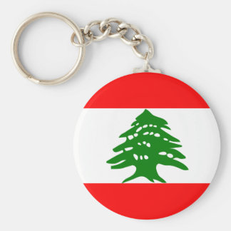 Lebanon Flag Key Ring