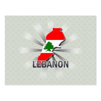 Lebanon Flag Map 2.0 Postcard