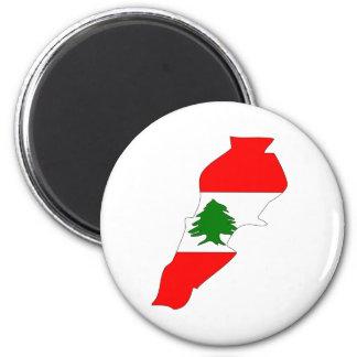 Lebanon Flag Map full size Magnet