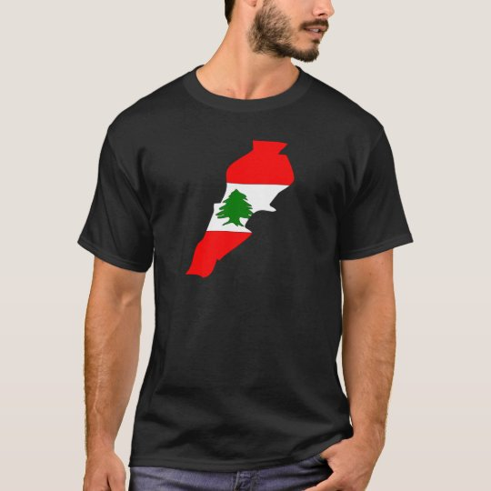 Lebanon Flag Map full size T-Shirt