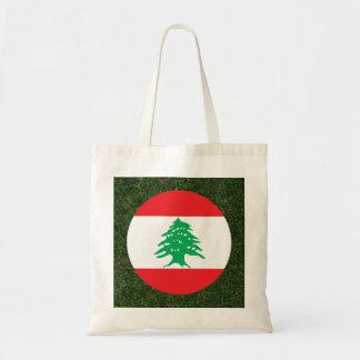 Lebanon Flag on Grass Budget Tote Bag