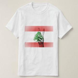 Lebanon Flag Peace Sign - Patriotic T-Shirt