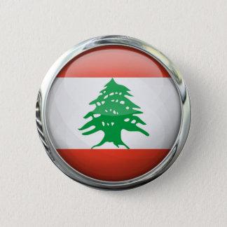 Lebanon Flag Round Glass Ball 6 Cm Round Badge