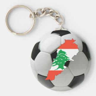 Lebanon football soccer key ring