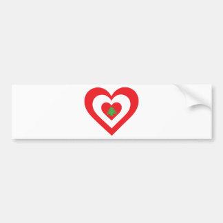 Lebanon Heart Bumper Sticker