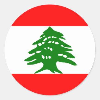 Lebanon High quality Flag Classic Round Sticker