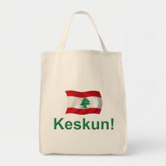 Lebanon Keskun! Grocery Tote Bag