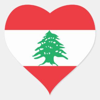 Lebanon/Lebanese Flag Heart Sticker