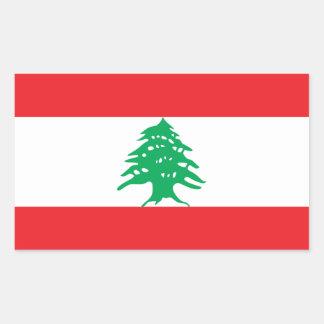 Lebanon/Lebanese Flag Rectangular Sticker