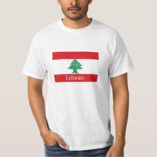 Lebanon lebanese flag souvenir tshirt