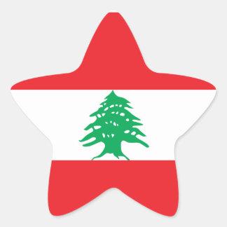 Lebanon/Lebanese Flag Star Sticker