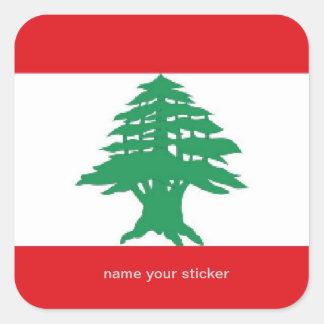 Lebanon lebanese flag sticker