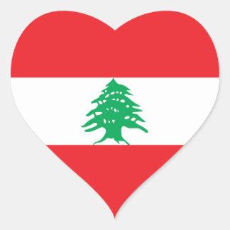 Lebanon/Lebanese Heart Flag Heart Sticker
