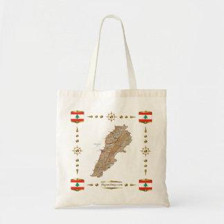 Lebanon Map + Flags Bag
