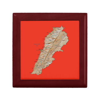 Lebanon Map Gift Box