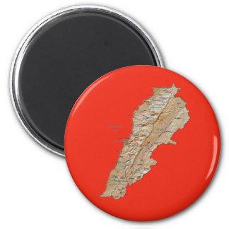 Lebanon Map Magnet