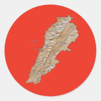 Lebanon Map Sticker