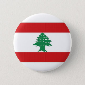 Lebanon National Flag 6 Cm Round Badge