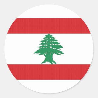 Lebanon National Flag Classic Round Sticker