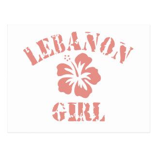 Lebanon Pink Girl Postcard