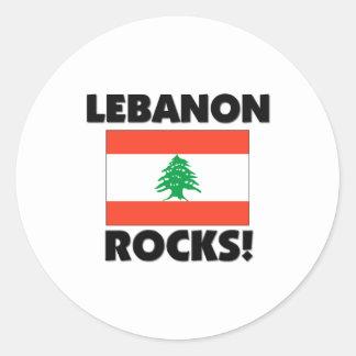 Lebanon Rocks Classic Round Sticker