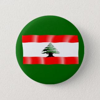 Lebanon Waving Flag Button